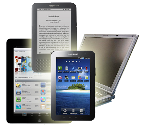Readers, tablets and laptops, oh my!